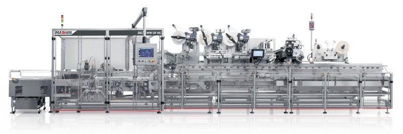 IMA Ilapak Delta WW OF-HSX atex version HFFS flexible packaging machine for wet wipes industry