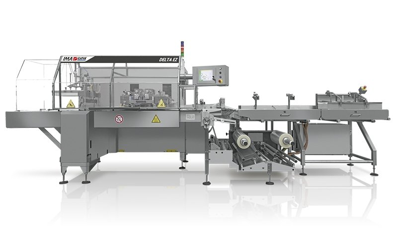 Ima Ilapak Delta EZ horizontal flow wrap packaging machine flow wrapper with integrated product infeed system