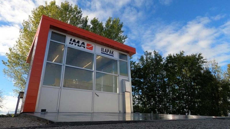 IMA Ilapak Washdown room for vertical form fill and seal machines